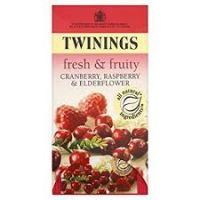 TWINNINGS FRESH & FRUITY: CRANBERRY, CRASPBERRY & ELDERFLOWER