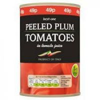 BEST-ONE PEELED PLUM TOMATOES 400g