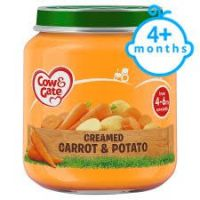 COW & GATE CREAMY CARROT & POTATO 4-6 MONTHS+ 125g