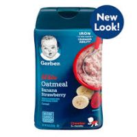 GERBER LIL'BITS WHOLE WHEAT CREAL BANANA STRAWBERRY 227g
