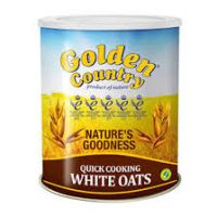 GOLDEN COUNTRY QUICK COOKING WHITE OATS TIN 500g