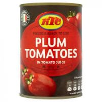 KTC PEELED PLUM TOMATOES 400g